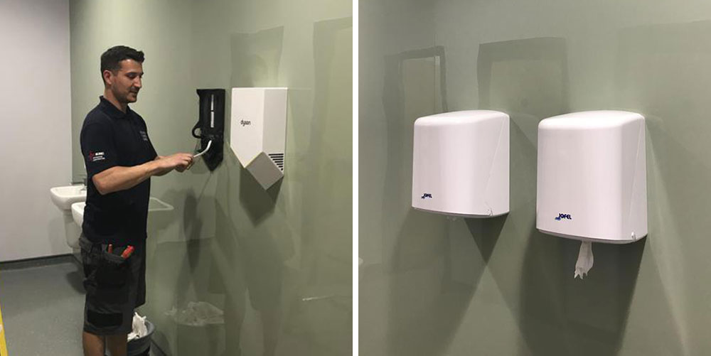 Commercial Hand Dryer Installation